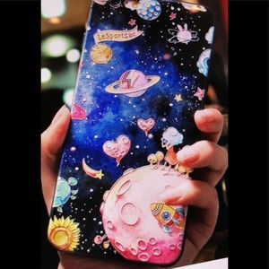 Accessories - iPhone 7/8 outer space silicon Case